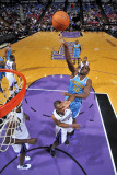 New Orleans Hornets v Sacramento Kings: Emeka Okafor and Carl Landry Photographic Print by Rocky Widner