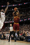 Miami Heat v Cleveland Cavaliers: Daniel Gibson and LeBron James Photographic Print by David Liam Kyle
