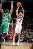 Boston Celtics v New Jersey Nets: Paul Pierce and Jordan Farmar Photographic Print by Nathaniel S. Butler