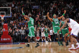 Boston Celtics v Philadelphia 76ers: Kevin Garnett and Paul Pierce Photographic Print by Jesse D. Garrabrant