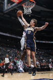 Indiana Pacers v Atlanta Hawks: Mike Dunleavy and Damien Wilkins Photographic Print by Scott Cunningham