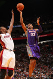 Phoenix Suns v Miami Heat: Grant Hill and Chris Bosh Photographic Print by Victor Baldizon