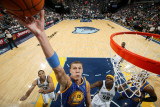 Golden State Warriors v Memphis Grizzlies: Andris Biedrins, Xavier Henry and Zach Randolph Photographic Print by Joe Murphy