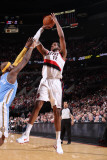 Denver Nuggets v Portland Trail Blazers: Ty Lawson and LaMarcus Aldridge Photographic Print by Sam Forencich