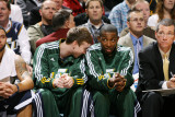 Memphis Grizzlies v Utah Jazz: Gordon Hayward and Jeremy Evans Photographic Print by Melissa Majchrzak