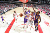Los Angeles Lakers v Houston Rockets: Chase Budinger and Matt Branes Photographic Print by Bill Baptist