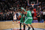 Boston Celtics v Philadelphia 76ers: Kevin Garnett, Nate Robinson and Glen Davis Photographic Print by Jesse D. Garrabrant