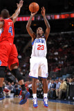 Los Angeles Clippers v Philadelphia 76ers: Louis Williams and Randy Foye Photographic Print by Jesse D. Garrabrant