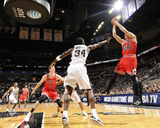Chicago Bulls v San Antonio Spurs: Kyle Korver and Antonio McDyess Photographic Print by D. Clarke Evans