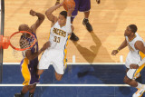 Los Angeles Lakers v Indiana Pacers: Danny Granger and Lamar Odom Photographic Print by Ron Hoskins