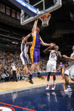 Los Angeles Lakers v New Jersey Nets: Pau Gasol and Jordan Farmar Photographic Print by Andrew Bernstein