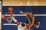 Atlanta Hawks v Indiana Pacers: Al Horford and Roy Hibbert Photographic Print by Ron Hoskins