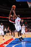 Portland Trail Blazers v Philadelphia 76ers: Marcus Camby and Elton Brand Photographic Print by Jesse D. Garrabrant