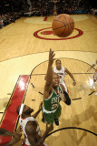 Boston Celtics v Toronto Raptors: Ray Allen and Reggie Evans Photographic Print by Ron Turenne