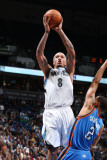 Oklahoma City Thunder v Minnesota Timberwolves: Michael Beasley and Thabo Sefolosha Photographic Print by David Sherman