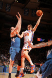 Minnesota Timberwolves v New York Knicks: Timofey Mozgov and Nikola Pekovic Photographic Print by Nathaniel S. Butler