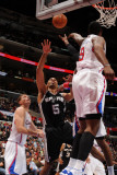 San Antonio Spurs v Los Angeles Clippers: Ime Udoka and DeAndre Jordan Photographic Print by Noah Graham