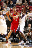 New Jersey Nets v Sacramento Kings: Brook Lopez and Samuel Dalembert Photographic Print by Don Smith