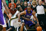 Sacramento Kings v Utah Jazz: Paul Millsap and Carl Landry Photographic Print by Melissa Majchrzak