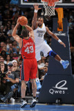 New Jersey Nets v Denver Nuggets: Shelden Williams and Kris Humphries Photographic Print by Garrett Ellwood