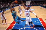 New Orleans Hornets v Philadelphia 76ers: Jarrett Jack and Marreese Speights Photographic Print by David Dow