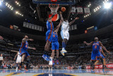 New York Knicks v Denver Nuggets: Ty Lawson and Amar'e Stoudemire Photographic Print by Garrett Ellwood