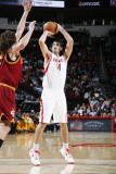 Cleveland Cavaliers v Houston Rockets: Luis Scola and Anderson Varejao Photographic Print by Bill Baptist