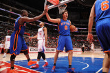New York Knicks v Los Angeles Clippers: Raymond Felton and Danilo Gallinari Photographic Print by Noah Graham