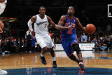 New York Knicks v Washington Wizards: Raymond Felton and John Wall Photographic Print by Ned Dishman