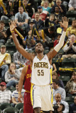 Cleveland Cavaliers v Indiana Pacers: Roy Hibbert Photographic Print by Ron Hoskins