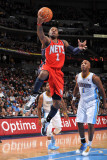New Jersey Nets v Denver Nuggets: Terrence Williams and Chauncey Billups Photographic Print by Garrett Ellwood