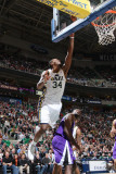 Sacramento Kings v Utah Jazz: C.J. Miles and Luther Head Photographic Print by Melissa Majchrzak