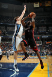 Miami Heat v Memphis Grizzlies: LeBron James and Marc Gasol Photographic Print by Joe Murphy