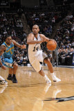 New Orleans Hornets v San Antonio Spurs: Gary Neal and Marcus Thorton Photographic Print by D. Clarke Evans
