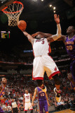 Phoenix Suns v Miami Heat: Dwyane Wade and Earl Barron Photographic Print by Victor Baldizon