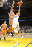 Phoenix Suns v Golden State Warriors: Stephen Curry and Channing Frye Photographic Print by Rocky Widner
