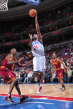 Cleveland Cavaliers v Philadelphia 76ers: Thaddeus Young Photographic Print by David Dow