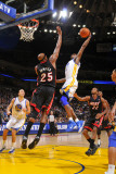 Miami Heat v Golden State Warriors: Dorell Wright and Erick Dampier Photographic Print by Rocky Widner