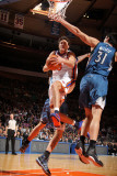 Minnesota Timberwolves v New York Knicks: Danilo Gallinari and DarkoMilicic Photographic Print by Nathaniel S. Butler