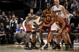 Miami Heat v Cleveland Cavaliers: LeBron James and Joey Graham Photographic Print by David Liam Kyle