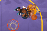 Washington Wizards v Los Angeles Lakers: Derek Fisher and John Wall Photographic Print by Andrew Bernstein