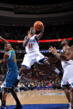 New Orleans Hornets v Philadelphia 76ers: Jrue Holliday and Emeka Okafor Photographic Print by David Dow