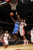 Oklahoma City Thunder v Toronto Raptors: James Harden and Sonny Weems Photographic Print by Ron Turenne