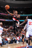 Portland Trail Blazers v Philadelphia 76ers: Armon Johnson, Louis Williams and Evan Turner Photographic Print by Jesse D. Garrabrant
