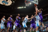 Sacramento Kings v New Orleans Hornets: Beno Udrih and Marco Belinelli Photographic Print by Chris Graythen