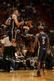 Indiana Pacers v Miami Heat: Danny Granger and Josh McRoberts Photographic Print by Issac Baldizon