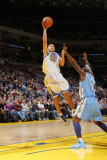 Denver Nuggets v Golden State Warriors: Stephen Curry and Ty Lawson Photographic Print by Rocky Widner