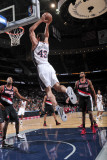 Portland Trail Blazers v New Jersey Nets: Kris Humphries Photographic Print by David Dow