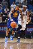 Golden State Warriors v Minnesota Timberwolves: Monta Ellis and Corey Brewer Photographic Print by David Sherman