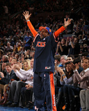 Denver Nuggets v New York Knicks: Spike Lee Photographic Print by Nathaniel S. Butler